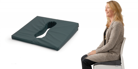 Ausnew Home Care Disability Services Keyhole Wedge Chair Cushion - Angled Pressure Relief Comfort Cushion | NDIS Approved, mount druitt, rooty hill, blacktown, penrith
