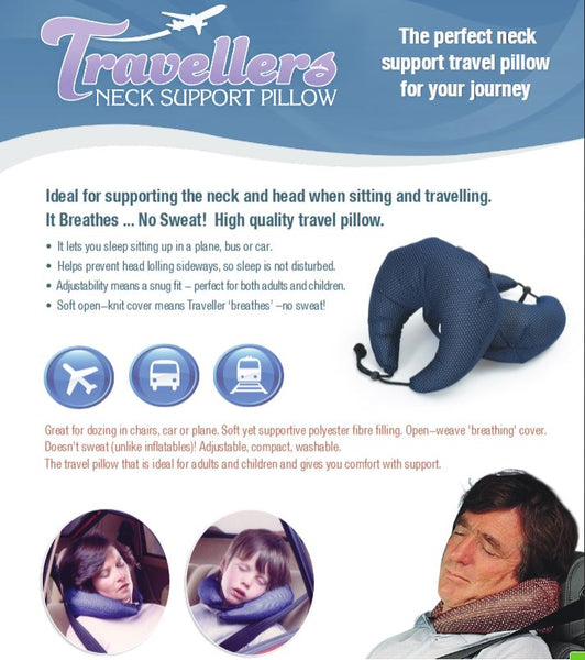 Ausnew Home Care Disability Services Traveller's Pillow - Neck Support Cushion | NDIS Approved, mount druitt, rooty hill, blacktown, penrith