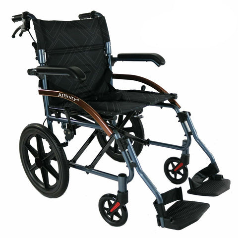 Ausnew Home Care Disability Services Transit Chair Transport Wheelchair Lightweight Folding Aluminium Compact | NDIS Approved, mount druitt, rooty hill, blacktown, penrith