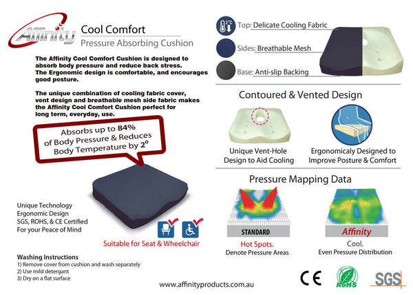 Ausnew Home Care Disability Services Cool Comfort Cushion | NDIS Approved, mount druitt, rooty hill, blacktown, penrith