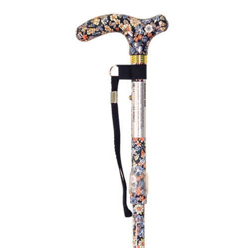 Ausnew Home Care Disability Services Japanese Floral Deluxe Folding Walking Cane | NDIS Approved, mount druitt, rooty hill, blacktown, penrith
