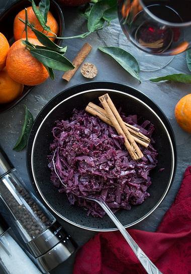 Festive red cabbage