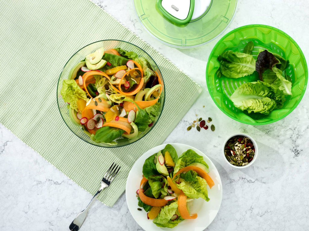 Leafy Green Salads In A Bowl