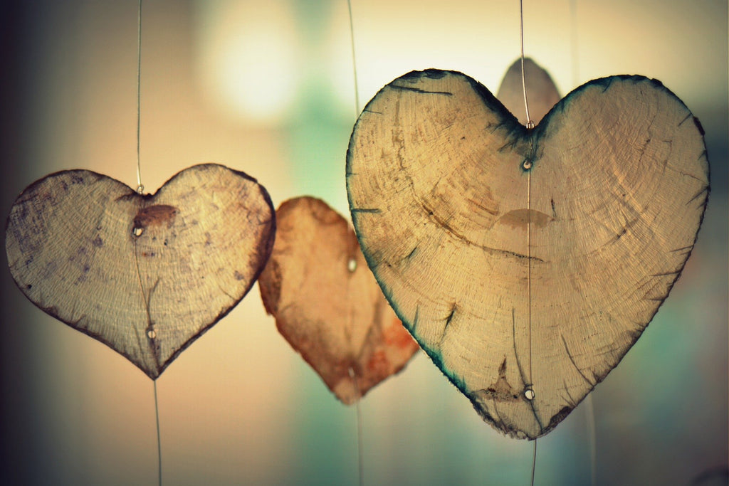 hanging hearts to show salt is bad for heart health