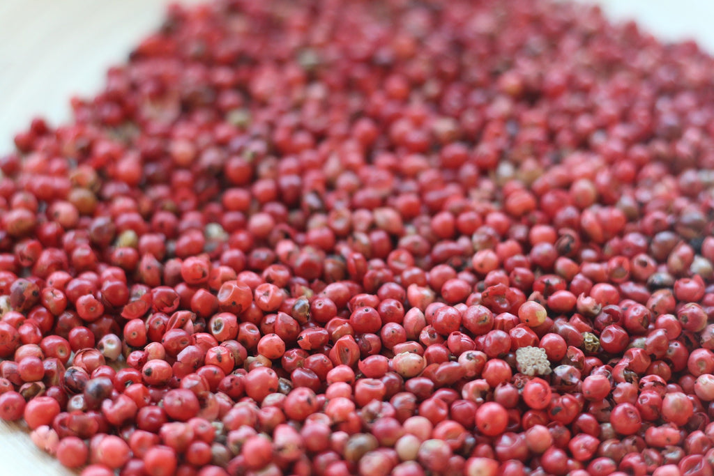 pink peppercorns ready to harvest