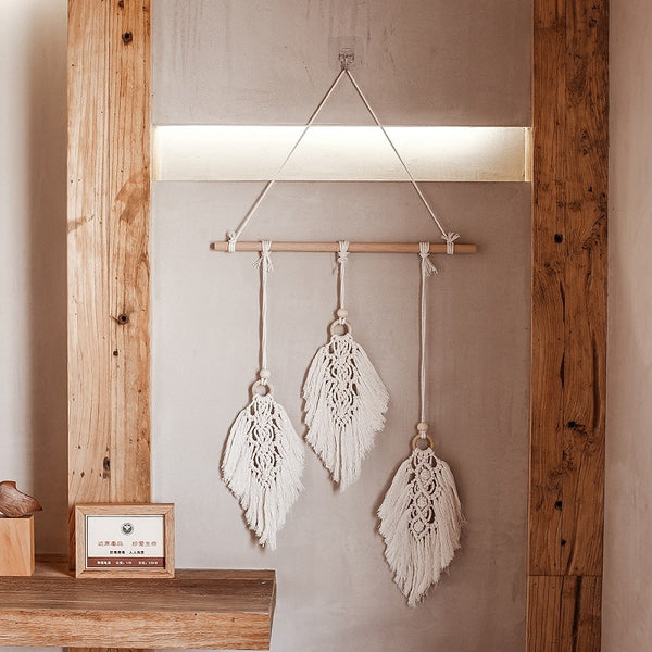Macrame Wall Hanging Leaf Home Decor