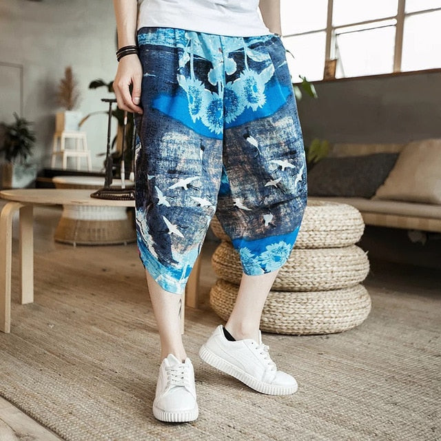 Beach Summer Cotton Pants for Men