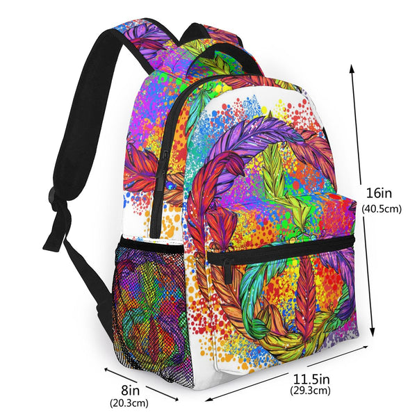 Hippie Peace Symbol Backpack