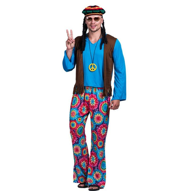 Hippie Costume Flower Power for Male Adults