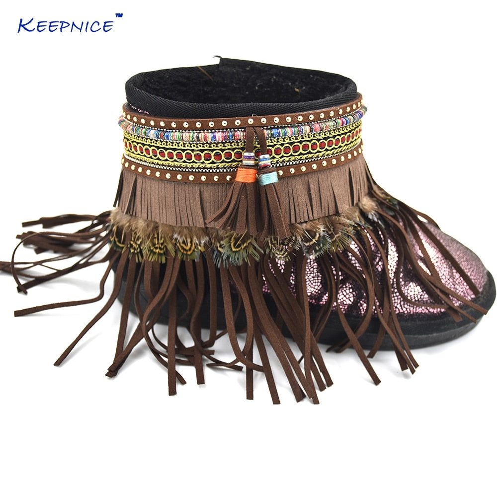 Hippie Leather Boho Anklet