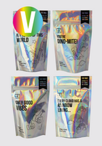 Bundle of 4 Iridescent Pouches – 600g