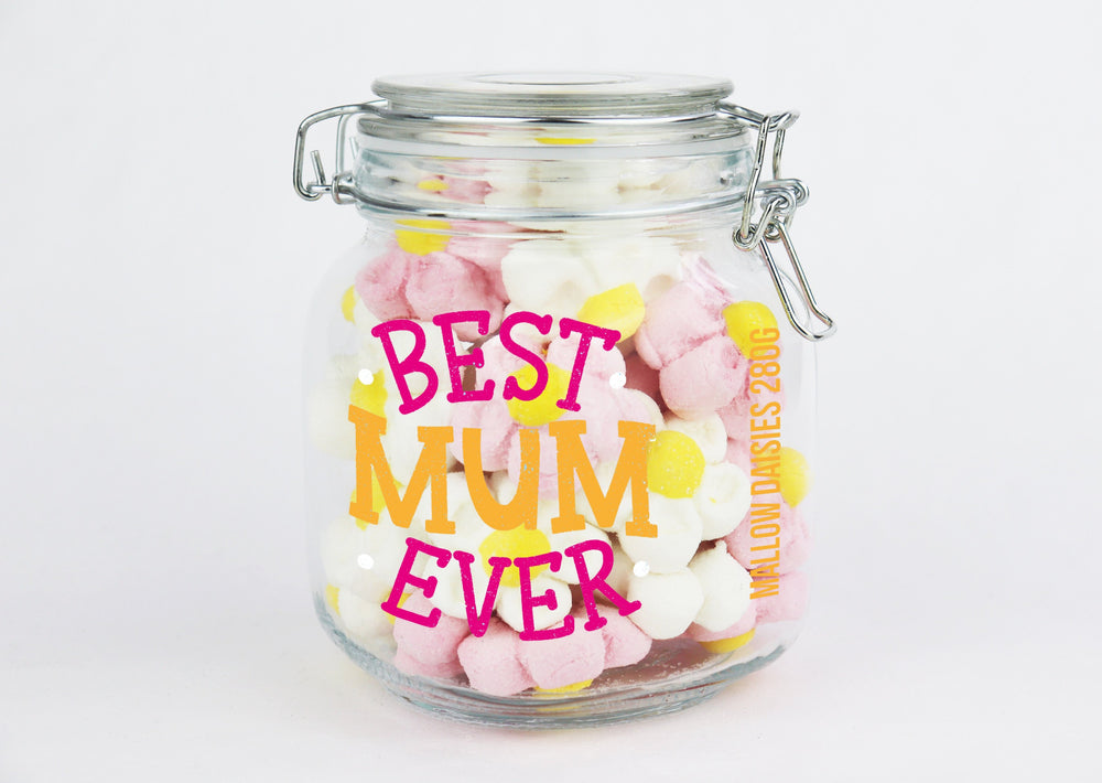 'Best Mum Ever' Marshmallow Daisies Jar – 280g