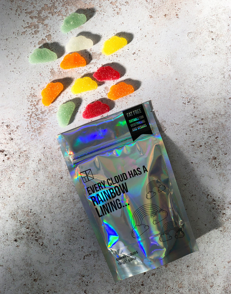 'Every Cloud has a Rainbow Lining' Vegan Gummy Clouds - 150g
