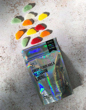Load image into Gallery viewer, 'Every Cloud has a Rainbow Lining' Vegan Gummy Clouds - 150g