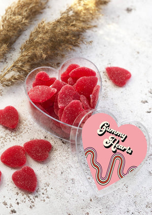 Load image into Gallery viewer, VEGAN Strawberry Flavoured Gummy Hearts – 180g