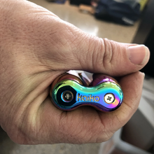 Load image into Gallery viewer, Oil Slick Rainbow Kaiko Infinity Handroller in zip case
