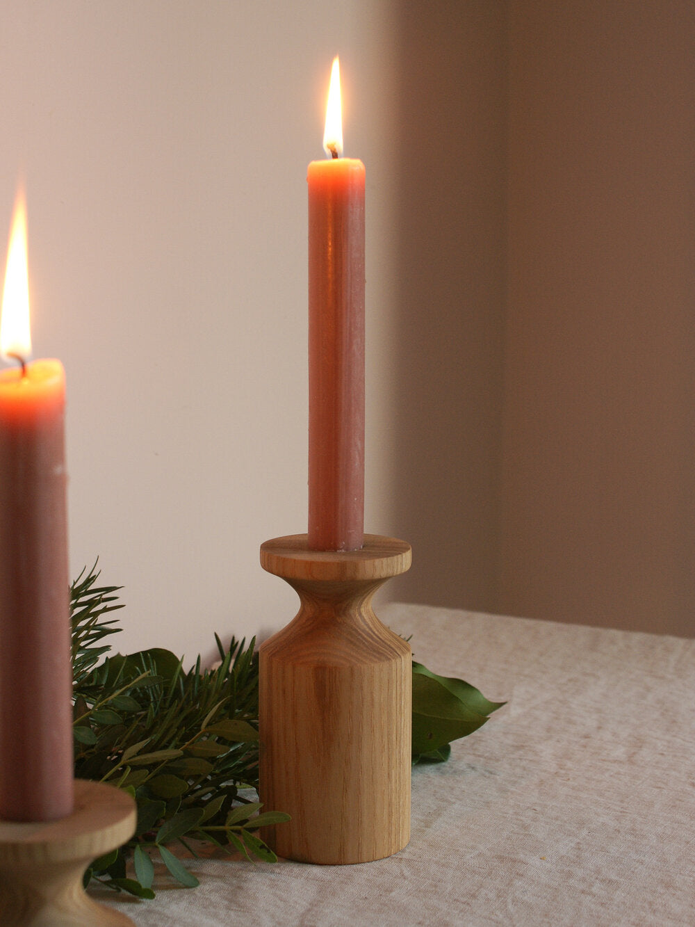 Tall Ash Candlestick Holder
