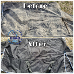 Before and After, Blanket Safe, Horse Blanket Laundry