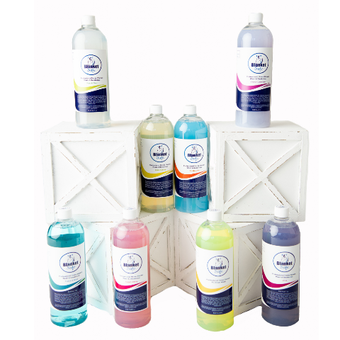 Blanket Safe 32oz Washes, French Lavender, Fresh Linen, Zesty Lemon, Sweet Cherry, Free & Clear. RugSafe USA, llc