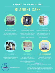What Can Blanket Safe Wash? Blanket Safe horse blanket and pet accessory laundry soaps
