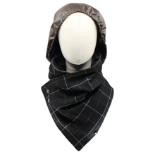 Load image into Gallery viewer, Hoodie Scarf - Boxed Black