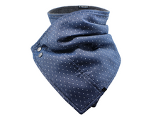 Load image into Gallery viewer, Chambray Dots - Scarf / Cowl