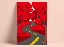 "Load image into Gallery viewer, Art print ""Red trees road"""