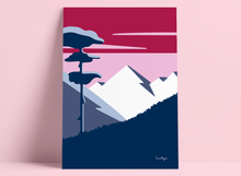 "Load image into Gallery viewer, Art print ""Mountain view"""