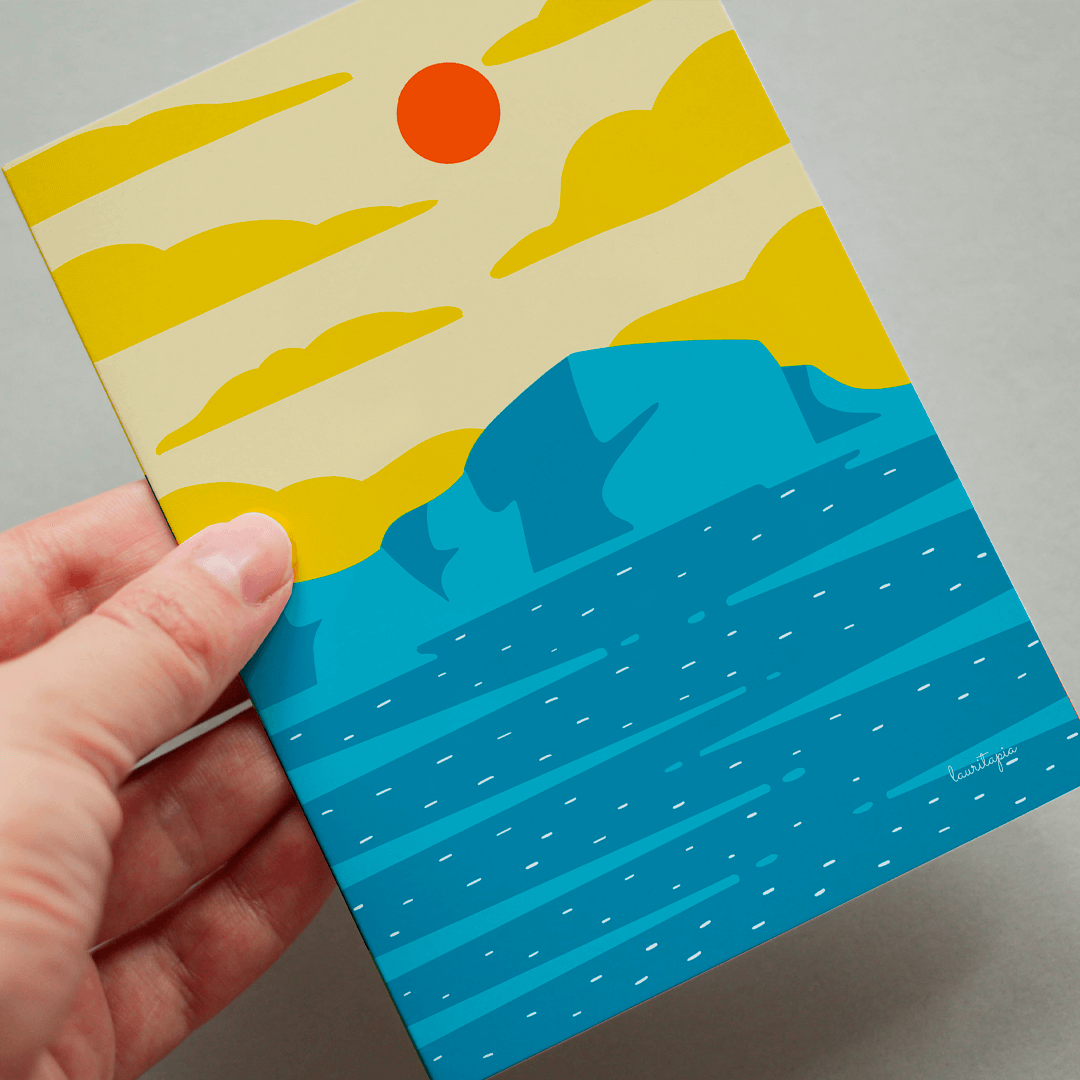 "3x Postcard set ""Sea and mountain lovers"""