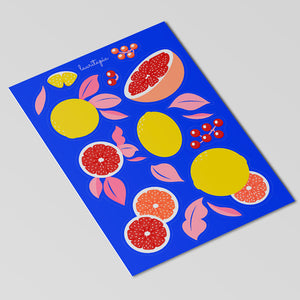 "1x Sticker sheet ""Fruities""."