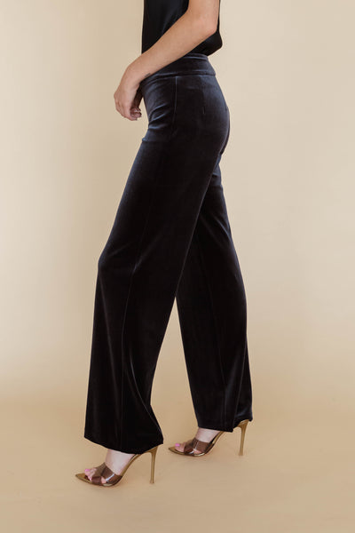 Tencel Rib Side Slit Maxi Skirt