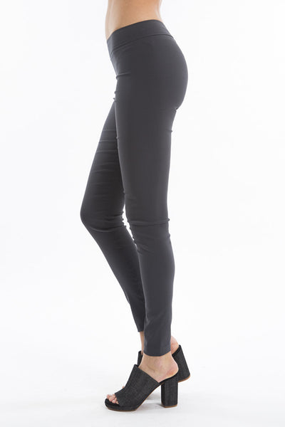 Pull on Skinny Pant - Light Stretch - Charcoal