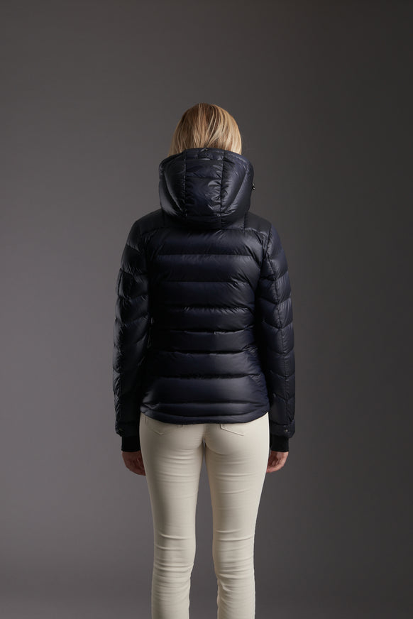 Back of Women's Marine Navy Insulated Lightweight Down Jacket by Reeev