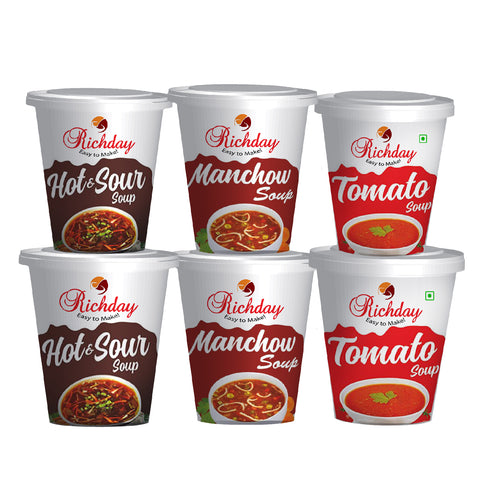 Instant Combo Cuppa Soup Offer Pack Of 6 ( 15gm Each )