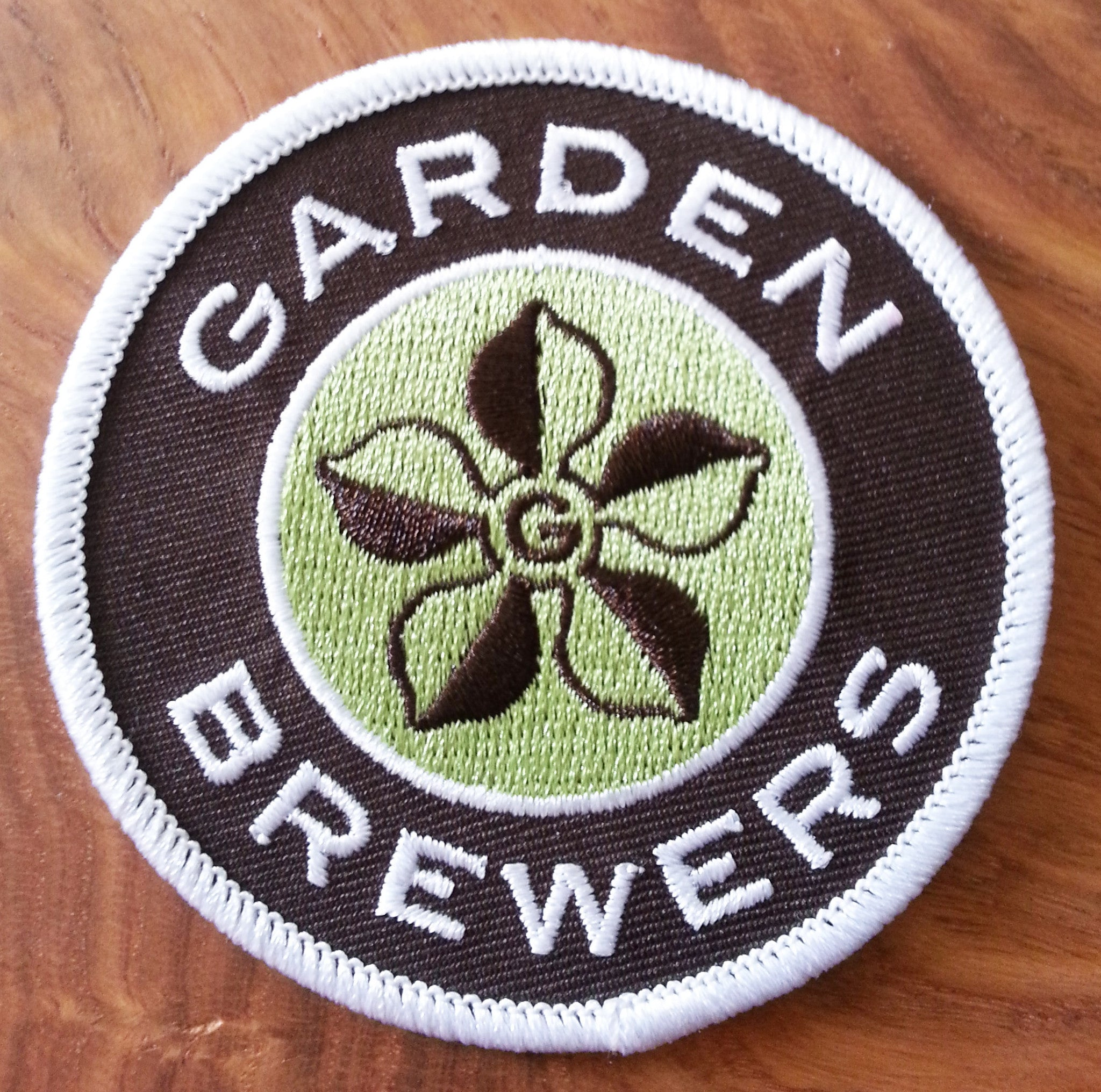 Garden Brewers Cinquefoil Logo Patch
