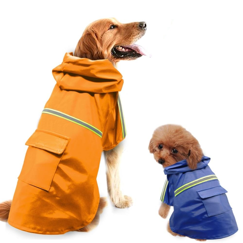 Dog Essentials Lightweight Raincoat with Reflective Light Safety Strips