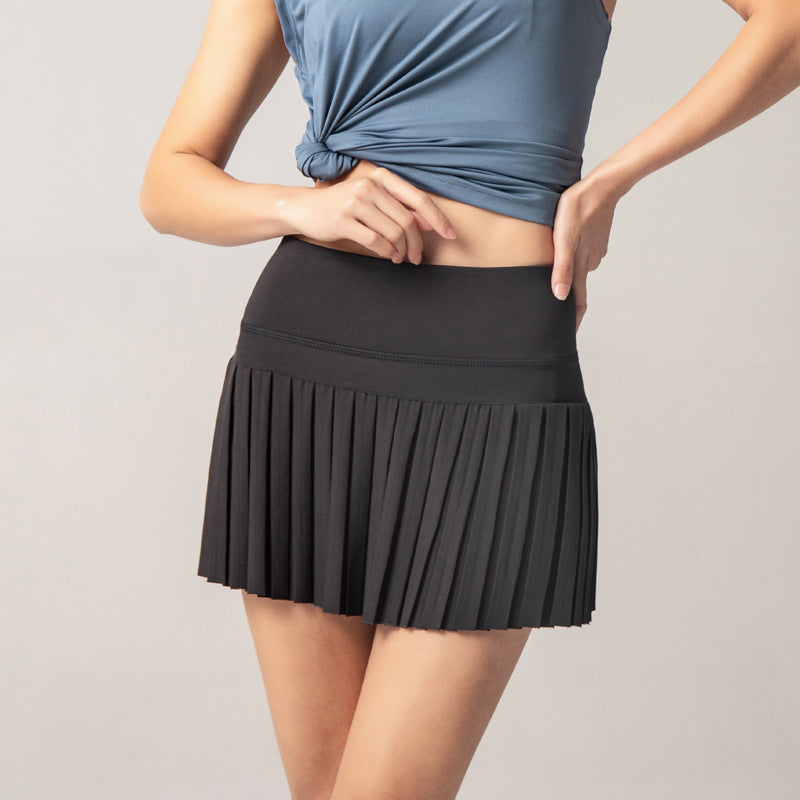 Tennis Pleated Skirt With Underneath& Pocket