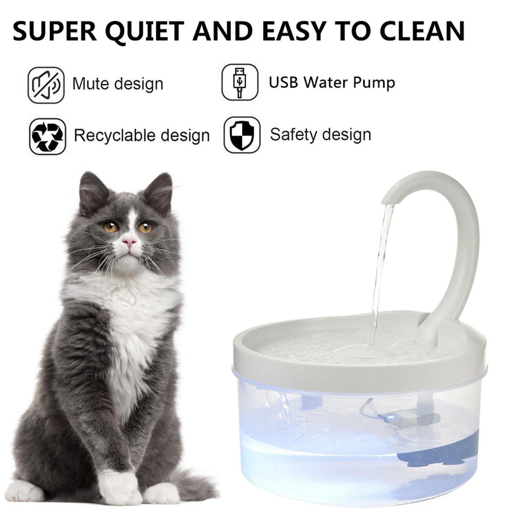 Automatic Pet Cat Water Fountain USB  2L ReBlink