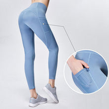 High-Waisted Pocket  Perforated Leggings QCFE RealBang