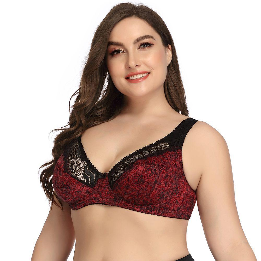 Lace Printed Wired DD Cup Bra XSR RealBang