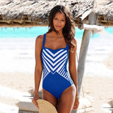 Stripe One Piece Swimwear TL RealBang