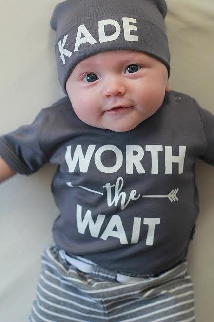69b4b63a6f24 Baby Coming Home Outfit · Custom Worth The Wait Baby Clothes. Cute Baby Boy  Set. Baby Coming Home Outfit ...