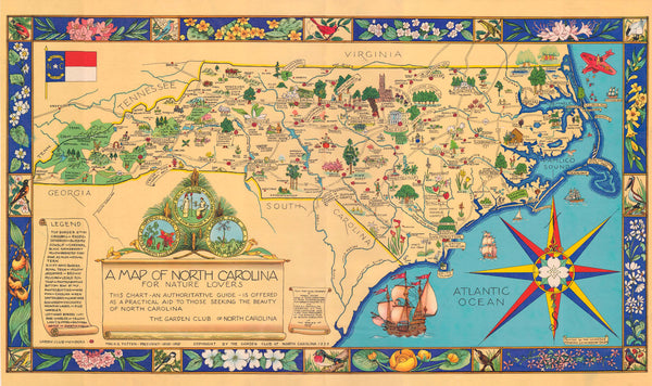 A Map of North Carolina for Nature Lovers Puzzle
