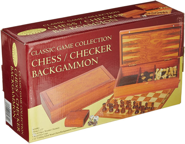 Classic Game Collection - Chess / Checkers / Backgammon
