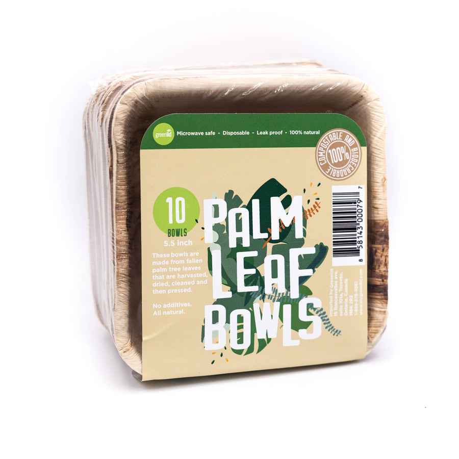 Palm Leaf Bowl - 10 Pack