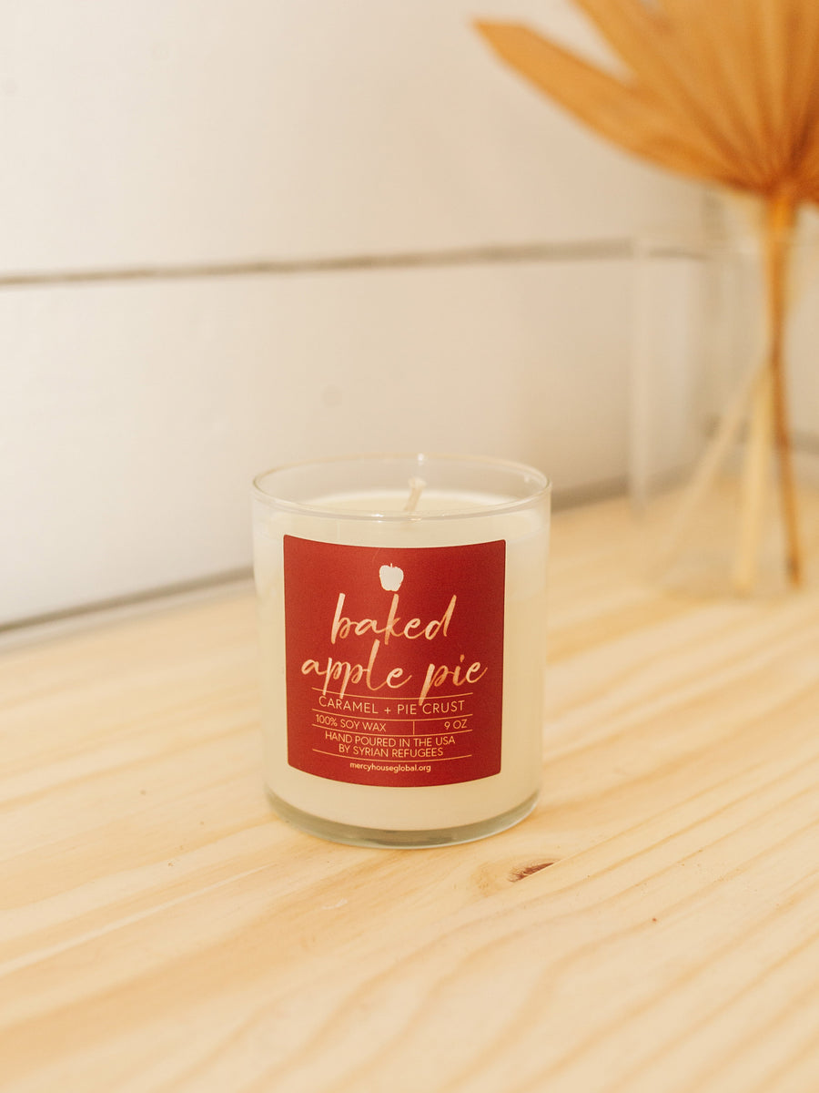Baked Apple Pie Glass Jar Candle