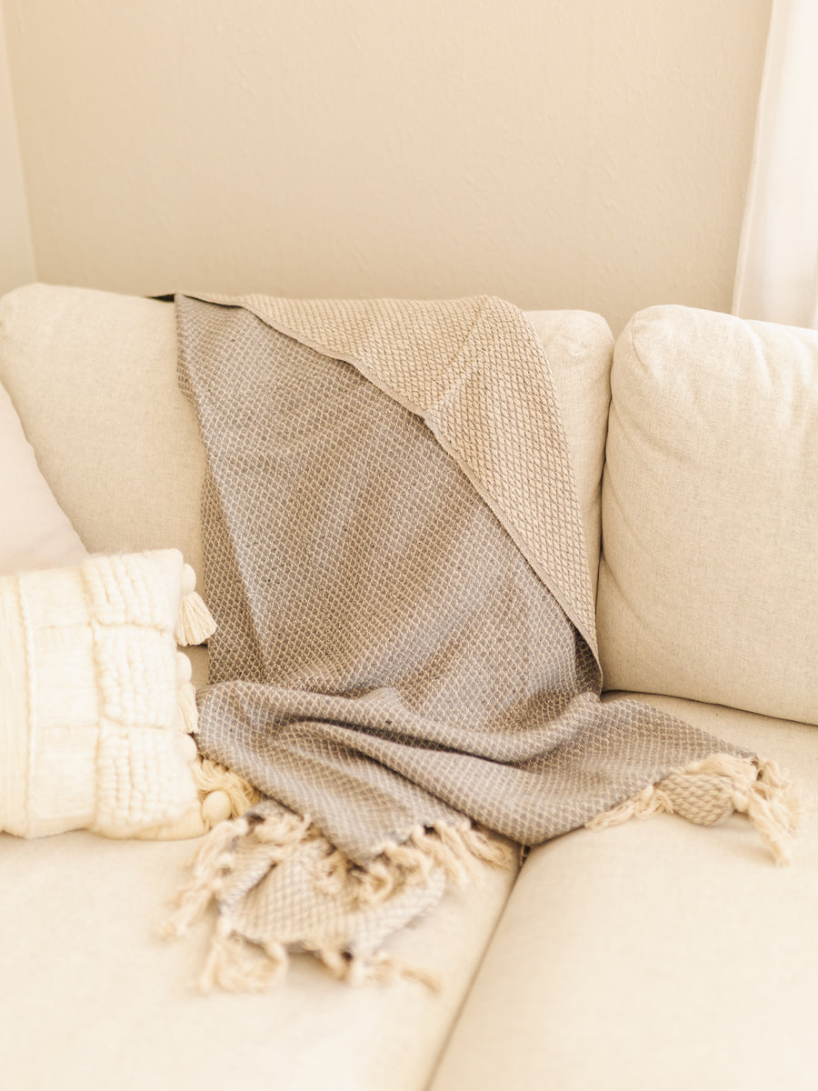 Hand-Loomed Cotton Throw Blanket