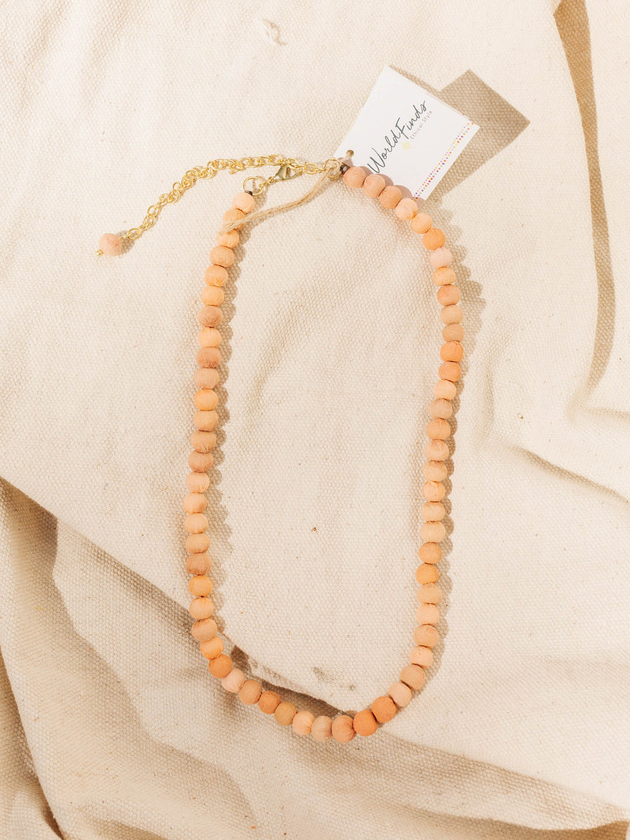Kantha Chromatic Necklace - Salmon