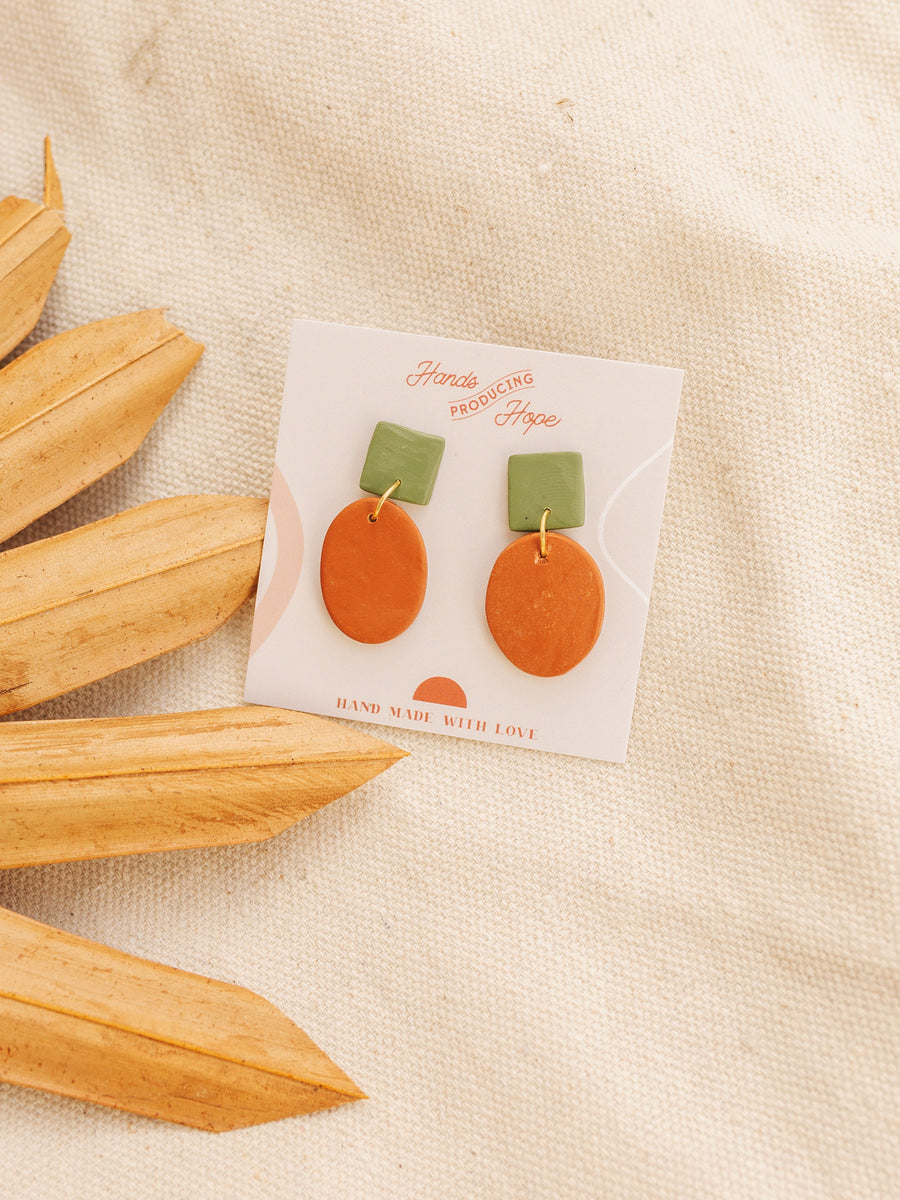 Thamani Clay Earrings