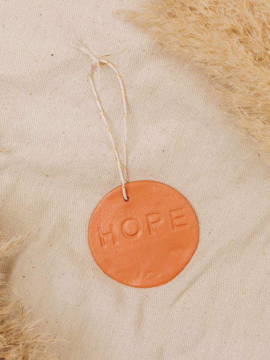 Hope Clay Ornament